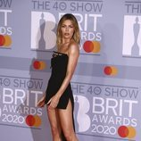 Abbey Clancy en la alfombra roja de los Brit Awards 2020