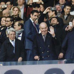 El Rey Juan Carlos en el partido Atlético de Madrid-Liverpool de la Champions 2020