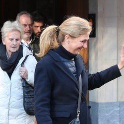 La Infanta Cristina y Claire Liebaert en una comida con Iñaki Urdangarin en Vitoria