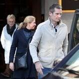 Iñaki Urdangarin con la Infanta Cristina, Irene Urdangarin y Claire Liebaert en su segundo permiso carcelario