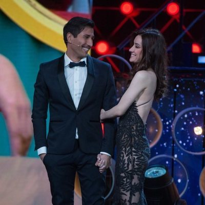 Adara y Gianmarco, muy felices tras el final de 'El tiempo del descuento'