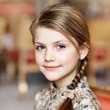 La Princesa Estela de Suecia en su posado por su octavo cumpleaños