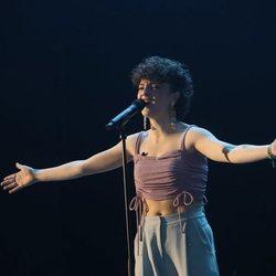 Anne Lukin durante su actuación en la Gala 6 de 'OT 2020'