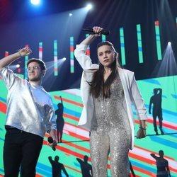 Gèrard y Eva en su actuación en la Gala 6 de 'OT 2020'