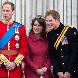 El Príncipe Guillermo, el Príncipe Harry, la Princesa Beatriz de York y la Princesa Eugenia de York