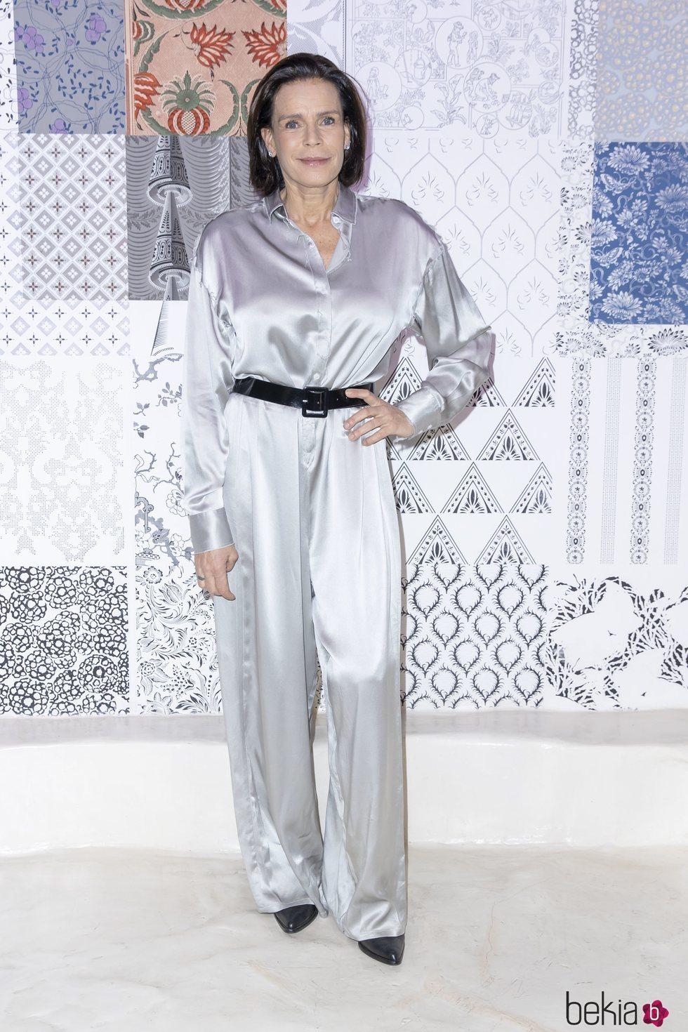 Estefanía de Mónaco en la presentación de la colección otoño/invierno 2020/2021 de Alter Designs en la Paris Fashion Week