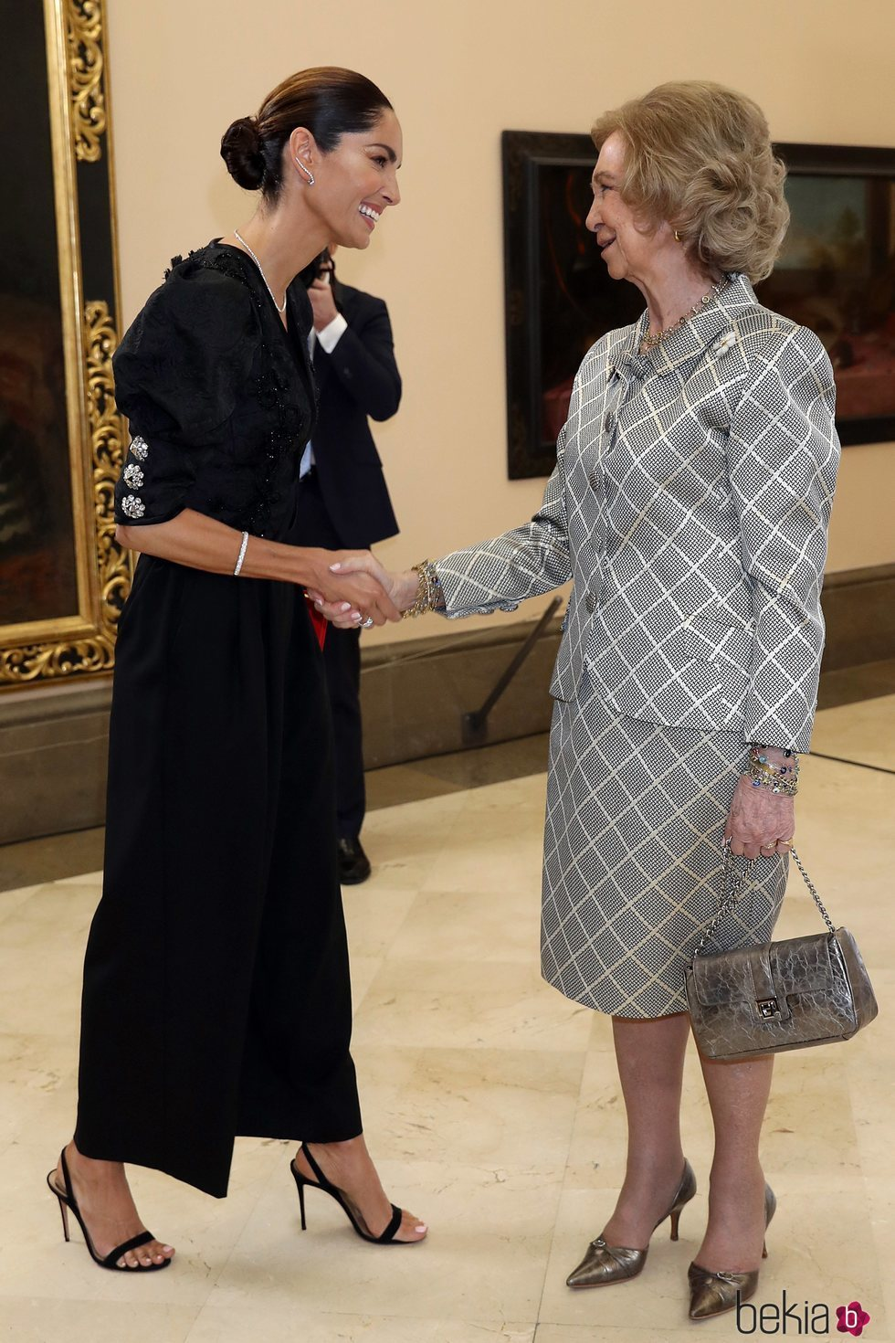 La Reina Sofía y Eugenia Silva en los Premios Iberoamericanos de Mecenazgo de la Fundación Callia