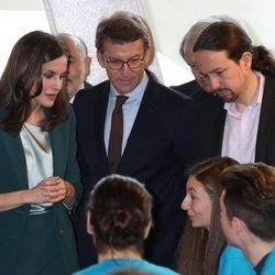 El primer acto oficial de la Reina Letizia junto a Pablo Iglesias