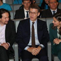 La Reina Letizia y Pablo Iglesias en la entrega de premios Princesa de Girona