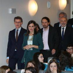 La Reina Letizia y Pablo Iglesias en los premios Princesa de Girona