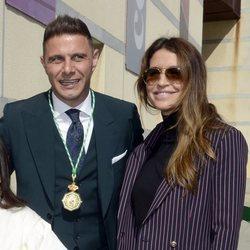 Joaquín Sánchez y su mujer, Susana Saborido, en la entrega de Medallas de Andalucía 2020
