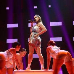 Anaju cantando 'Tusa' durante la gala 7 de 'OT 2020'