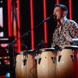 Bruno Carrasco cantando 'Llegué hasta ti' durante la gala 7 de 'OT 2020'