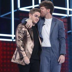 Gèrard y Jesús tras conocer su nominación en la gala 7 de 'OT 2020'