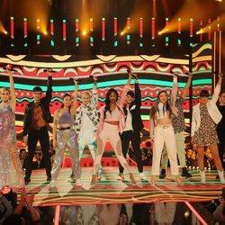 Los concursantes de 'OT 2020' tras cantar 'Waka Waka' en la gala 7