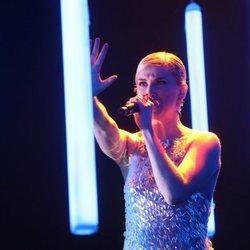 Samantha cantando 'Human' durante la gala 7 de 'OT 2020'