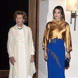 Sonia de Noruega y Rania de Jordania en la cena de gala por la Visita de Estado de los Reyes Harald y Sonia de Noruega a Jordania