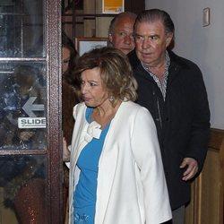 María Teresa Campos saliendo de cena con su amigo Emilio Javier Gómez