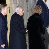 Carlos Zurita acudiendo a la misa funeral de Plácido Arango
