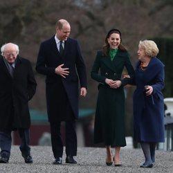 Los Duques de Cambridge con el Presidente de Irlanda y su mujer en su visita oficial a Irlanda