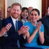 El Príncipe Harry y Meghan Markle durante los Endeavour Fund Awards 2020