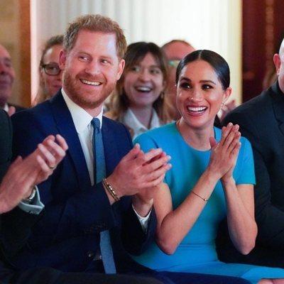 El Príncipe Harry y Meghan Markle durante los Endeavour Fund Awards 2020