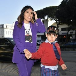 Chabelita Pantoja y su hijo Albertito en la fiesta de cumpleaños del pequeño