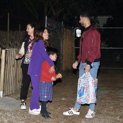 Chabelita Pantoja, Asraf Beno y Dulce en el cumpleaños de Albertito