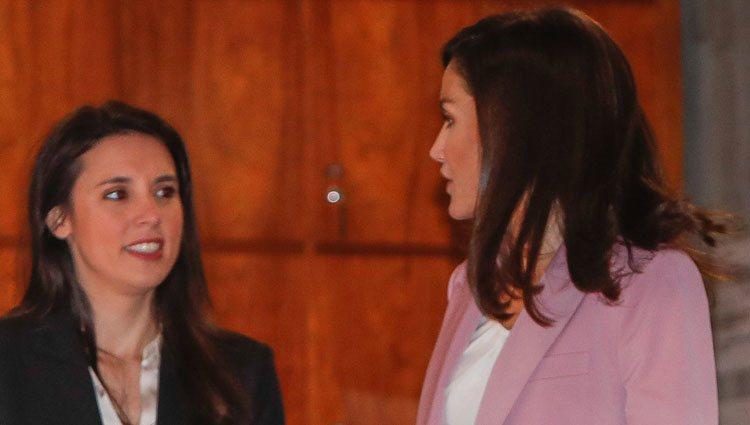 La Reina Letizia e Irene Montero en su primer acto oficial juntas