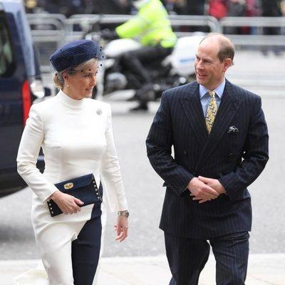 El Príncipe Eduardo y Sophie Rhys-Jones en el Día de la Commonwealth 2020