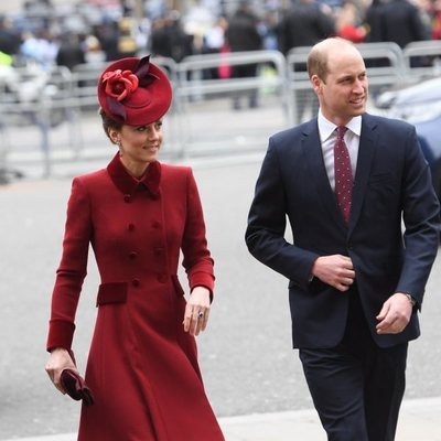 El Príncipe Guillermo y Kate Middleton en el Día de la Commonwealth 2020