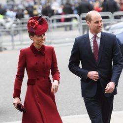 El Príncipe Guillermo y Kate Middleton en el Día de la Commonwealth 2020
