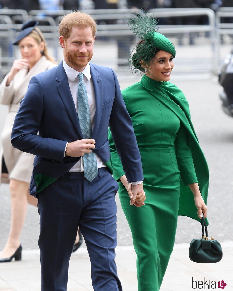 El Príncipe Harry y Meghan Markle en su último acto como miembros de la Casa Real Británica