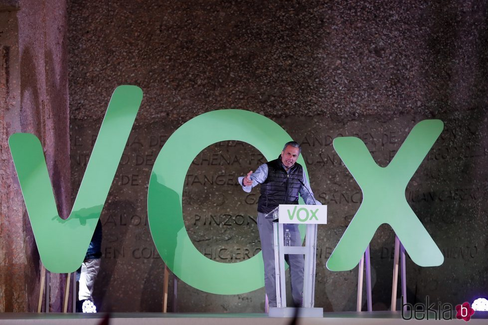 Javier Ortega Smith en un mitin de Vox