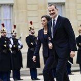 Los Reyes Felipe y Letizia en el Elíseo para un almuerzo con los Macron