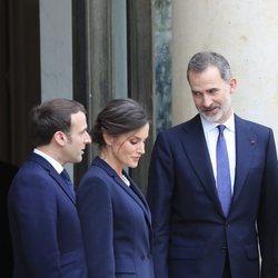 Los Reyes Felipe y Letizia y Emmanuel Macron, muy cómplices tras un almuerzo en el Eliseo