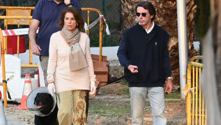 José María Aznar y Ana Botella en Marbella en plena crisis del coronavirus