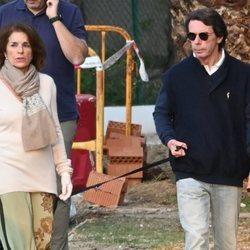 José María Aznar y Ana Botella paseando por Marbella en plena crisis del coronavirus