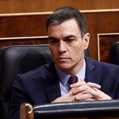 Pedro Sánchez, en el Congreso de los Diputados tras decretar el estado de alarma