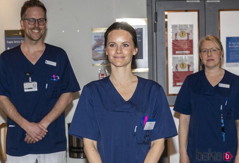 La Princesa Sofia de Suecia en su voluntariado