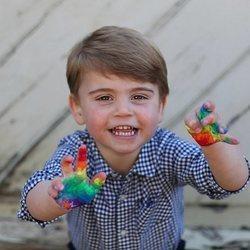 Fotografía inédita del Príncipe Luis de Cambridge por su segundo cumpleaños