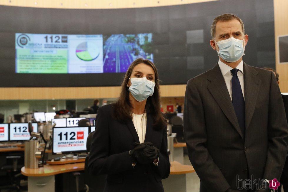 Los Reyes Felipe y Letizia visitan la Agencia de Seguridad y Emergencias Madrid 112