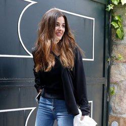 Alexia Rivas entrando en la casa de Alfonso Merlos en Madrid