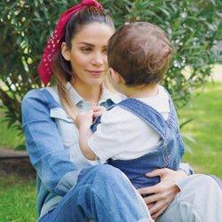 Rosanna Zanetti con su hijo Matteo en su cumpleaños