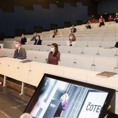Los Reyes Felipe y Letizia en la presentación del Informe Cotec 2020