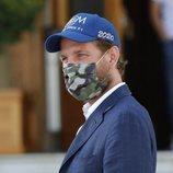 Andrea Casiraghi con mascarilla en Mónaco
