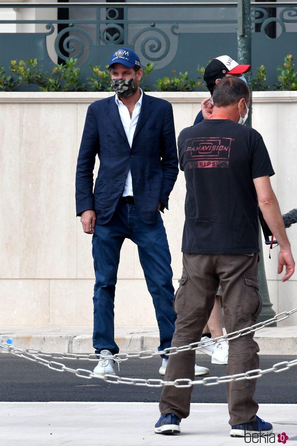Andrea Casiraghi reaparece en Mónaco tras el confinamiento