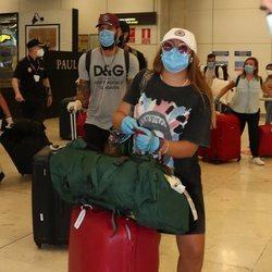 Rocío Flores y Albert Barranco llegando de Honduras tras 'SV 2020'