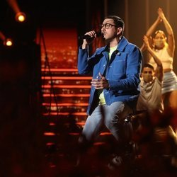 Bruno cantando 'Fugitivos' en la gala 11 de 'OT 2020'