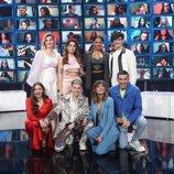 Samantha, Anaju, Nia, Flavio, Eva, Hugo, Maialen y Bruno en la gala 11 de 'OT 2020'